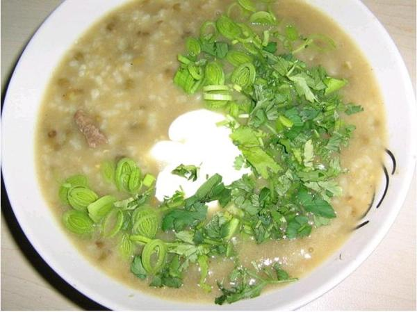 мясной суп с рисом и машем фото