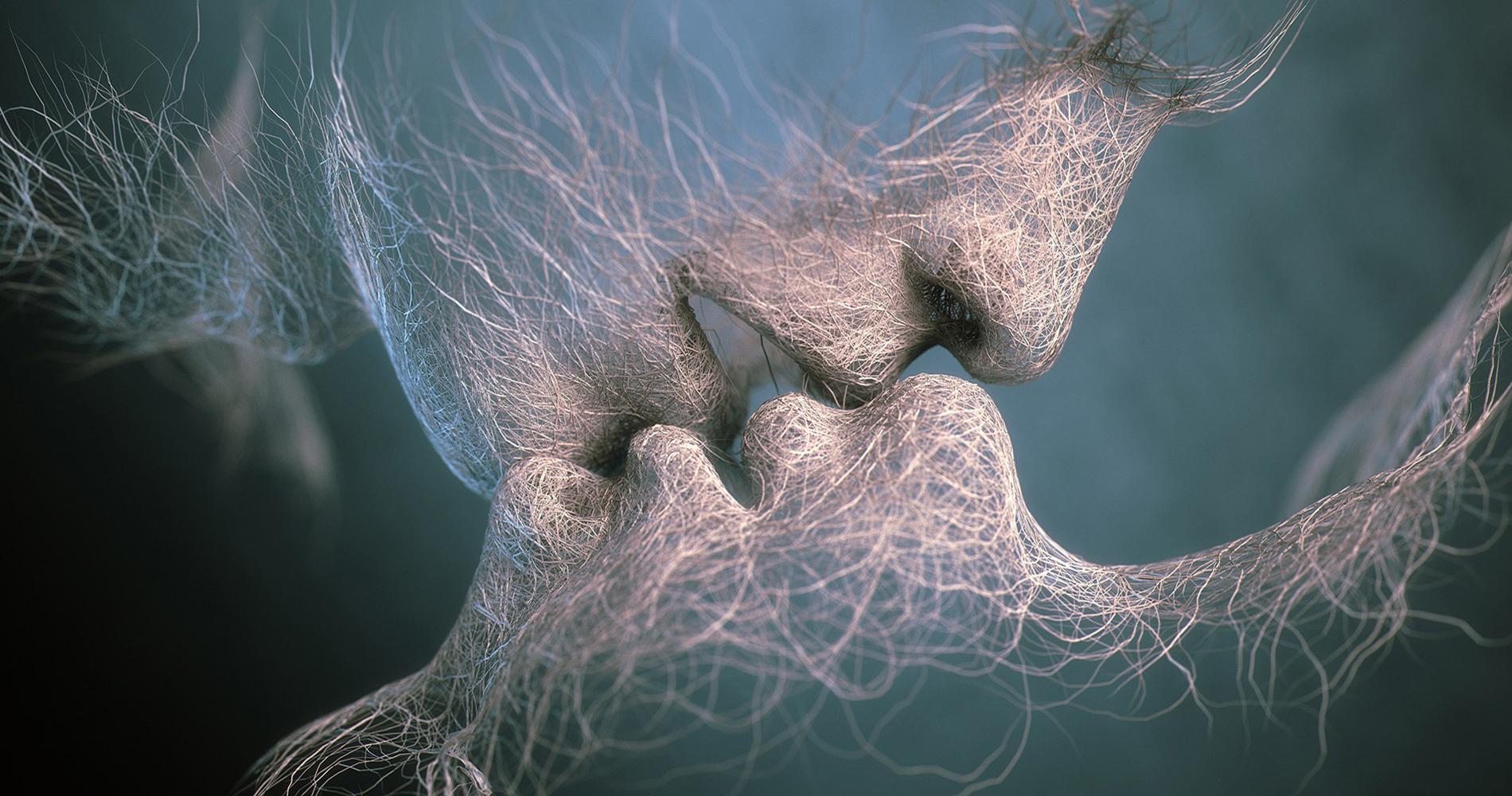 поцелуй мужчины и женщины фото