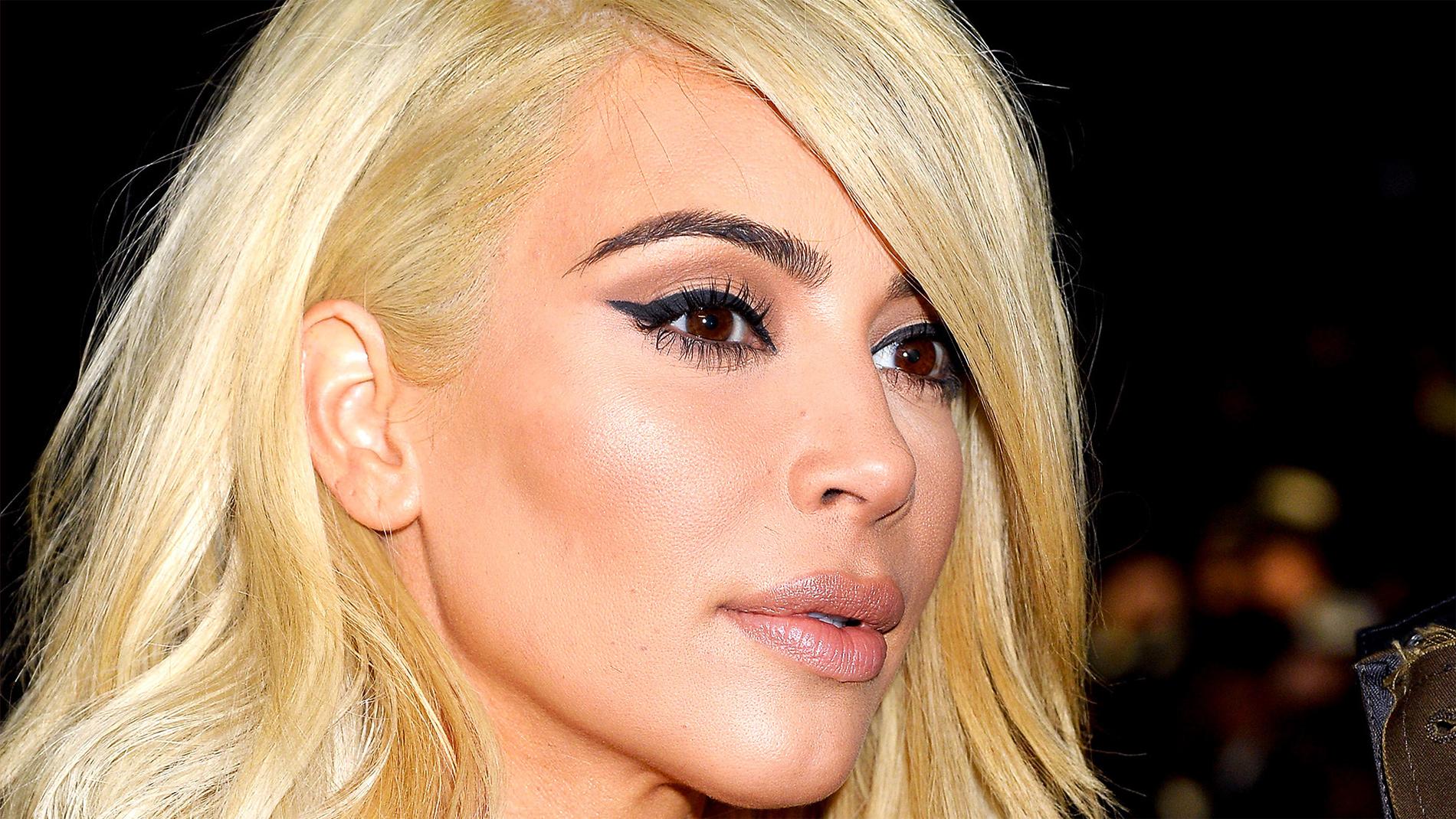 ким кардашьян блондинка фото